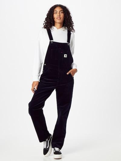 Carhartt WIP Панталон с презрамки 'Bib' в антрацитно черно, Преглед на модела
