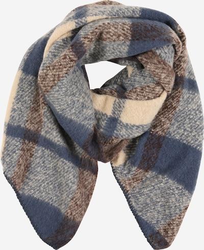 ONLY Sjaal 'LIMA' in de kleur Beige / Indigo / Bruin, Productweergave