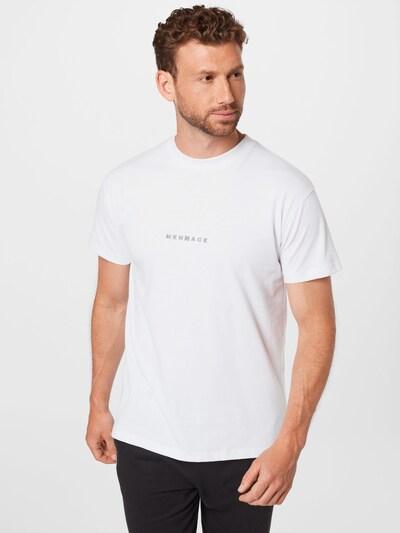 Mennace Тениска в сребърно сиво / бяло: Изглед отпред