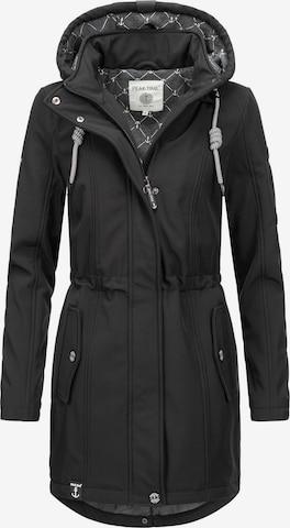 Peak Time Raincoat in Black