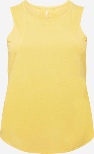Only Play Curvy Sporttop in gelb, Produktansicht