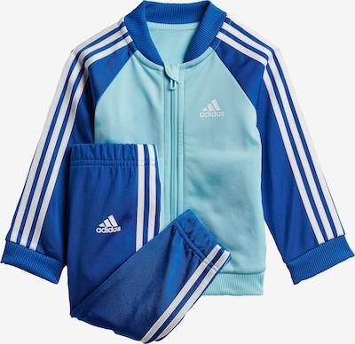 ADIDAS PERFORMANCE Trainingspak in de kleur Turquoise / Donkerblauw / Wit, Productweergave