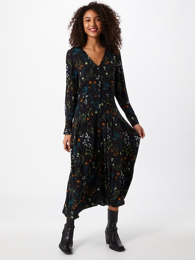 TOM TAILOR DENIM Kleid in mischfarben / schwarz, Modelansicht