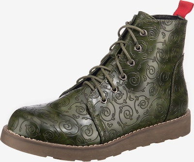 ambellis Lace-Up Ankle Boots in Olive, Item view