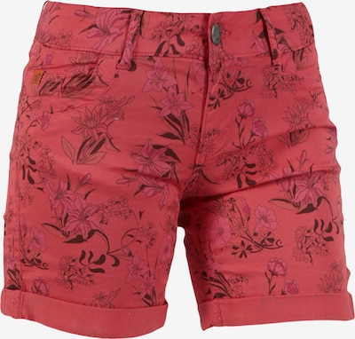 Miracle of Denim Shorts 'Lessi' in anthrazit / rot, Produktansicht