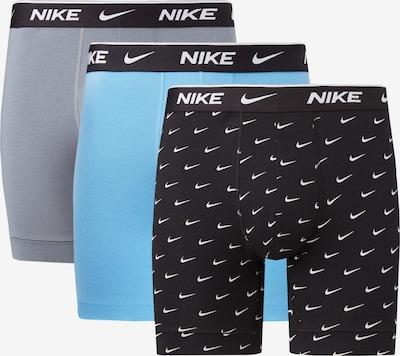 NIKE Boxershorts in cyanblau / grau / schwarz / weiß, Produktansicht