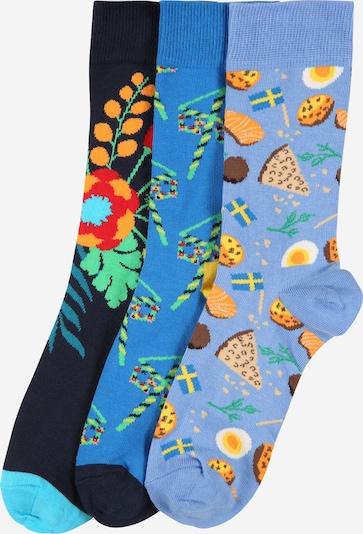 Happy Socks Socken 'Midsummer' in blau / navy / rauchblau / mischfarben, Produktansicht