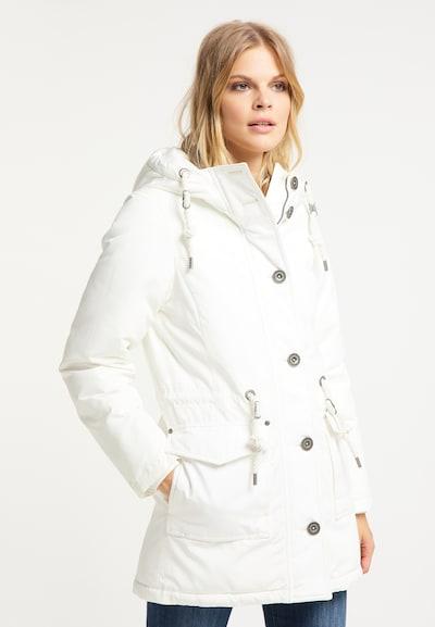 DreiMaster Vintage Veste d'hiver en blanc: Vue de face