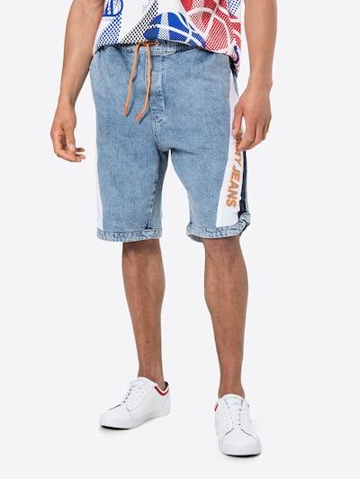 Tommy Jeans Farkut värissä marine / sininen denim / oranssi / valkoinen, Mallinäkymä