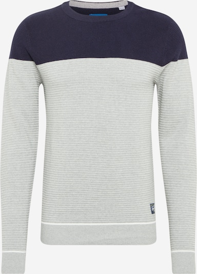 JACK & JONES Pull-over en bleu marine / gris: Vue de face