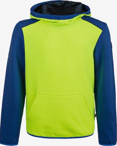 ZigZag Kapuzensweatshirt 'FINK' in dunkelblau / neongrün, Produktansicht