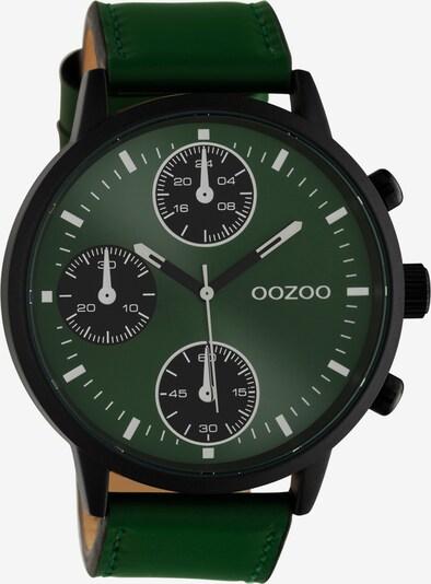 OOZOO Quarzuhr in grün / schwarz, Produktansicht