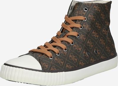 GUESS Sneakers hoog 'Ederle' in de kleur Bruin / Oker / Wit, Productweergave