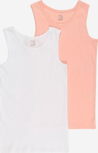 OVS Onderhemd in de kleur Pasteloranje / Wit, Productweergave