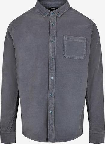 Urban Classics Hemd 'Corduroy' in Blau