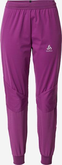 ODLO Sporthose in silbergrau / aubergine, Produktansicht