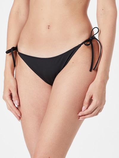 Calvin Klein Swimwear Долнище на бански тип бикини в бежово / златистожълто / черно: Изглед отпред
