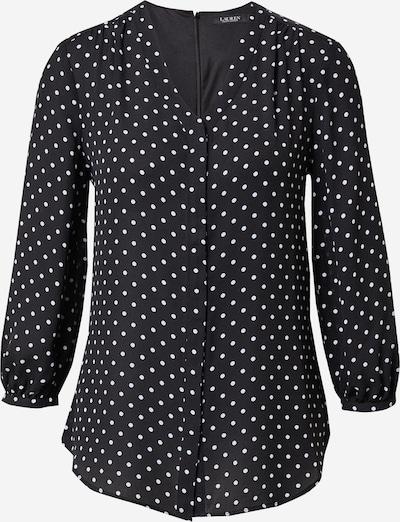 Lauren Ralph Lauren Blouse 'FAJOLA' in de kleur Zwart / Wit, Productweergave