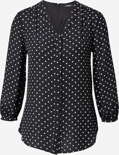 Lauren Ralph Lauren Blusa 'FAJOLA' en negro / blanco, Vista del producto