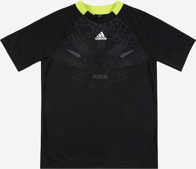 ADIDAS PERFORMANCE Sportshirt 'B A.R. PRED' in neongelb / grau / schwarz / weiß, Produktansicht