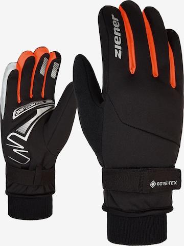 ZIENER Athletic Gloves 'SMU 18-bike 199 GTX(R)' in Orange