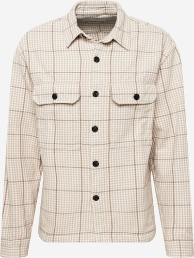 Abercrombie & Fitch Button Up Shirt in Brown / Cappuccino / Off white, Item view