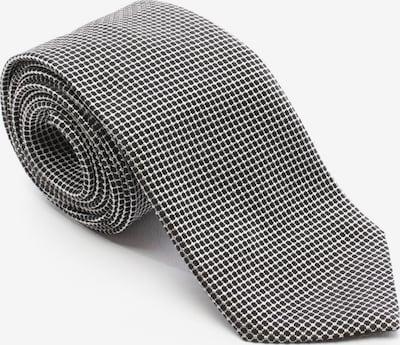 GIORGIO ARMANI Seidenkrawatte in One Size in schwarz / weiß, Produktansicht
