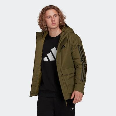 ADIDAS PERFORMANCE Sportjas in de kleur Groen / Zwart: Vooraanzicht