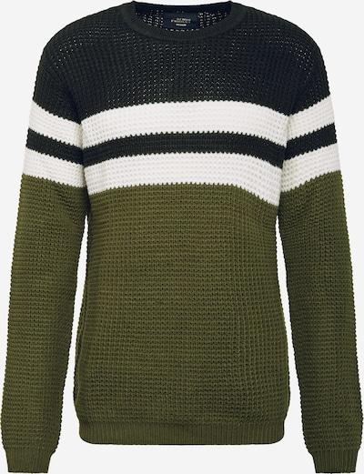 Denim Project Pullover in oliv / schwarz / weiß, Produktansicht