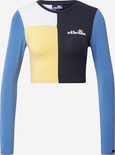 ELLESSE T-Shirt 'Tersus' in nachtblau / hellblau / pastellgelb / weiß, Produktansicht