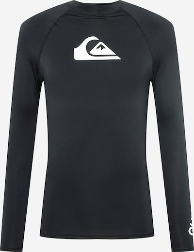 QUIKSILVER Camiseta funcional en negro / blanco, Vista del producto