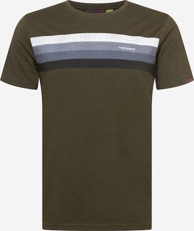 Tricou Ragwear pe albastru fumuriu / albastru porumbel / oliv / negru / alb, Vizualizare produs