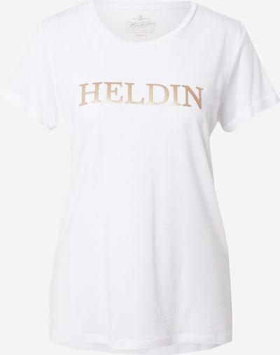 Tricou Herrlicher pe bronz / alb, Vizualizare produs