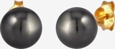Nenalina Ohrringe Perle, Perlenohrstecker in gold / schwarz, Produktansicht