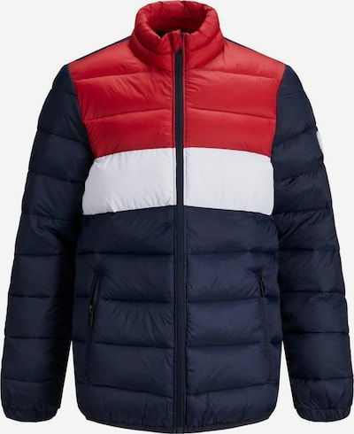 Jack & Jones Junior Veste d'hiver en bleu / rouge, Vue avec produit
