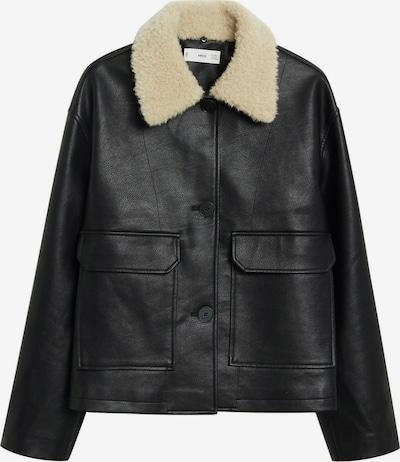 MANGO Přechodná bunda 'Marcus' - černá / barva bílé vlny, Produkt