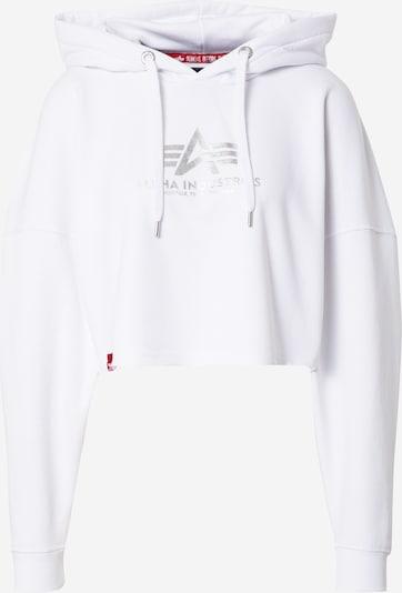 ALPHA INDUSTRIES Sweat-shirt en gris / blanc, Vue avec produit