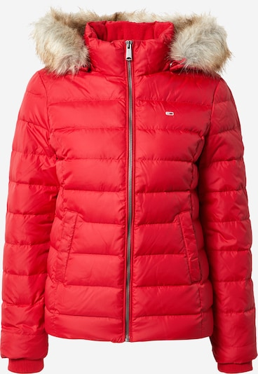 Tommy Jeans Veste d'hiver en rouge rubis, Vue avec produit