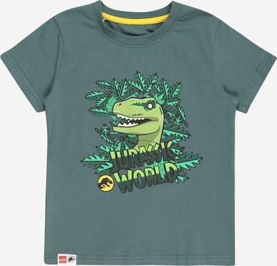 LEGO WEAR T-Shirt en jaune d'or / vert / vert clair / vert foncé / blanc, Vue avec produit