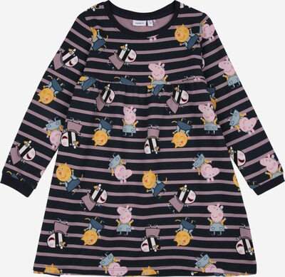 NAME IT Kleid 'PEPPAPIG NOSA' in navy / lila / mischfarben, Produktansicht