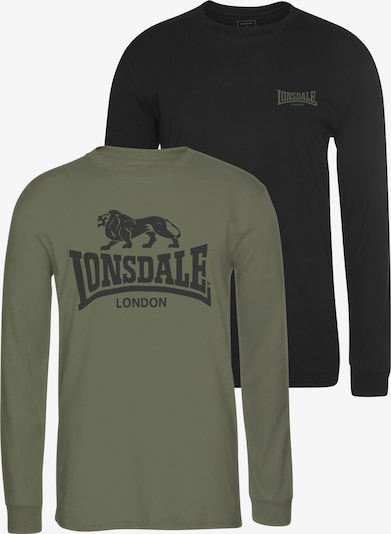 LONSDALE Shirt in khaki / schwarz, Produktansicht