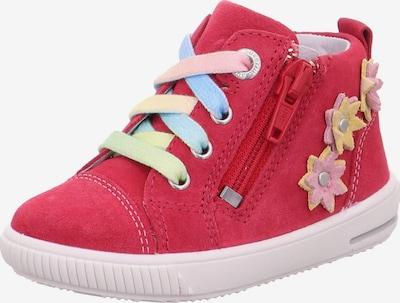SUPERFIT Sneaker 'Moppy' in hellblau / hellgelb / rosa / grenadine, Produktansicht
