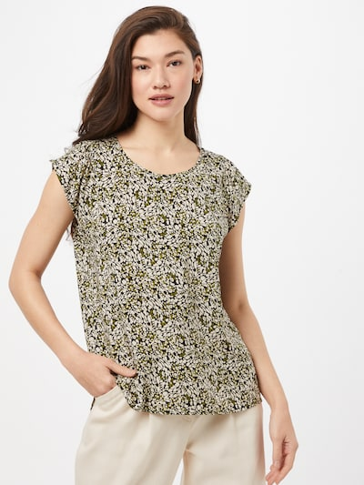 OPUS Blouse 'Fannie' in Green / Black / White, View model
