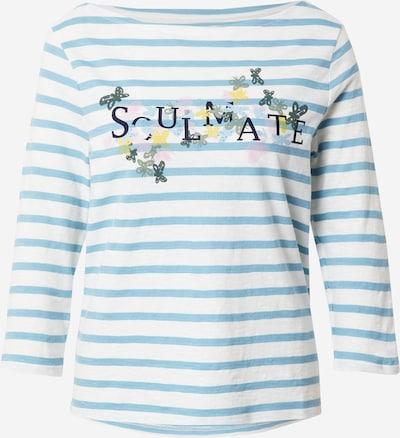 LIEBLINGSSTÜCK T-shirt 'Dobra' en bleu clair / bleu foncé / jaune / blanc, Vue avec produit