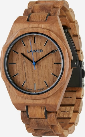 LAiMER Analog Watch 'Constantin' in Brown