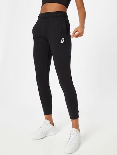 ASICS Sportovní kalhoty - černá / bílá, Model/ka