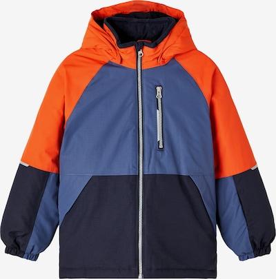 NAME IT Weatherproof jacket in Navy / Smoke blue / Neon orange, Item view