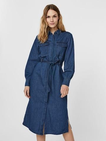 VERO MODA Shirt Dress in Blue