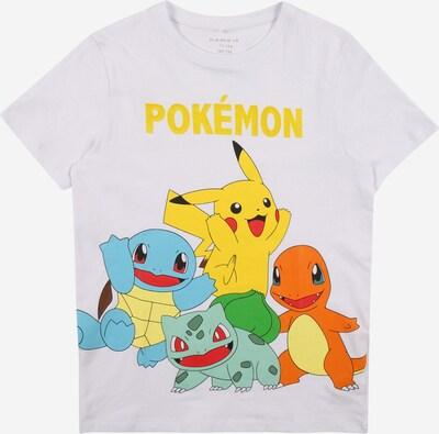 NAME IT T-Shirt 'POKEMON' in blau / gelb / hellrot / weiß, Produktansicht