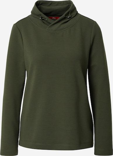 s.Oliver Sweatshirt mit Schalkragen in khaki, Produktansicht